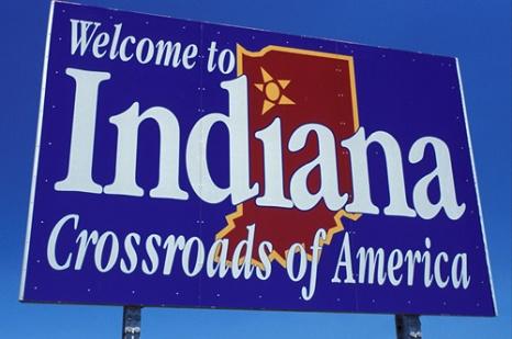 ib0715 welcome sign indiana state welcome indiana crossroads america